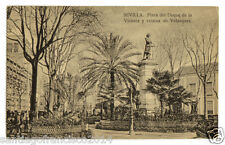 92.-SEVILLA -Plaza del Duque de la Victoria y estatua de Velázquez