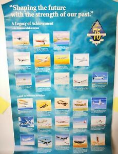 """McDonnell Douglas 1920-1995 75 Years Poster 22"""".5 x 36"""" Poster Aviation Flaws"""