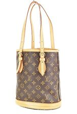 Authentic LOUIS VUITTON Petit Bucket Monogram Shoulder Bag #35727A