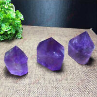 1pc Natural Amethyst Quartz Crystal Terminated Point Tower Healing Stone Obelisk