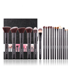 Zoreya Professional 18 Piece Kabuki Make Up Brush Set and Cosmetic Brushes Case