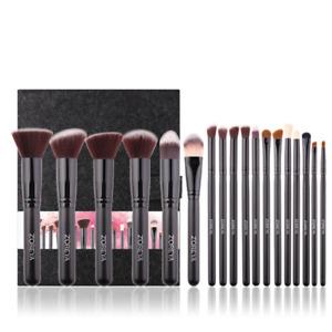 Zoreya Professional 18 Piece Kabuki Make Up Brush Set and Cosmetic Brushes Case