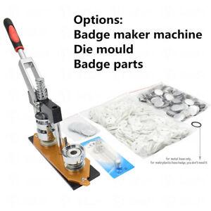 25-58mm Badge Maker Machine/Die Mould/300Sets Button Parts Badge Pin Punch Press