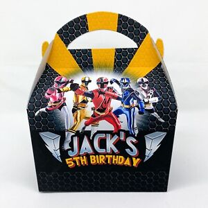 Power Rangers Superhero Children's Personalised Party Boxes Favours Gift Bags