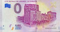 BILLET 0  EURO CITE ROYALE DE LOCHES LE DONJON FRANCE  2019  NUMERO 4000
