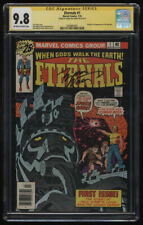 Eternals #1 CGC 9.8 OW-W Pgs SS Sig Series Signature Marv Wolfman 1st Apperance