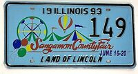 Illinois 1993 County Fair Old License Plate Garage Special Event Circus Ferris