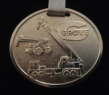 Vintage Cool Grove Crane Watch Fob Gold Tone 1960's