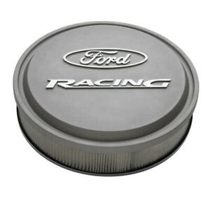Proform Air Cleaner Assembly 302-382; Ford Racing Cast Gray Aluminum 13 x 3""