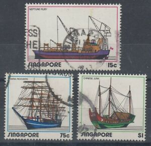 SINGAPORE 1972 SHIPPING SET (x3) USED (ID:875/D58985)