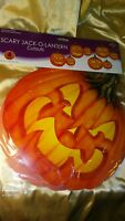 (4) Pk. Jack- O- Lanterns-BEISTLE HALLOWEEN Pumpkins Packaged Cutouts LARGE 14""