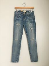 CURRENT ELLIOTT Stiletto Distressed Ripped Sexy Skinny Jeans Pants Blue 26 $238