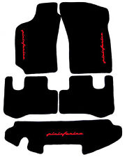 Fußmatten für Fiat Coupe 5-teilig mit Hutablage Rot Autoteppiche