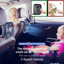 3-Speed USB Silent Cooling Fan For Car Backseat Mini Air Conditioner Office Home