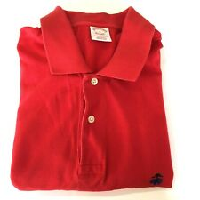 Brooks Brothers Performance Polo Shirt Men's Large Original Fit 100% Cotton Red