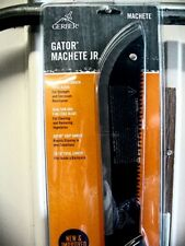 GERBER MACHETE HIGH CARBON BLACK BLADE GATOR JR DUAL SAW FINE EDGE 18  3/4 INCH