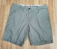 Tommy Bahama Relax Green Multi-Color Plaid Cotton Tencel Blend Shorts Sz 38