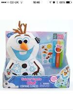 Nuevo Inkoos Frozen Olaf Color & crear Dibujar Colorear Doodle Blanda Juguete de reconstitución de lavado