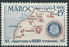 Marokko - 50 Jahre Rotary International postfrisch 1955 Mi. 387