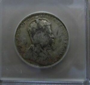 Canadian 1908 Newfoundland 50¢ Coin Graded by ICG and Graded VG8