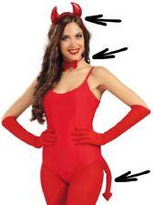 Disfraces de mujer sin marca color principal rojo de poliéster