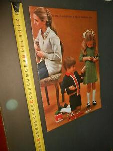 pubblicita' foto vecchie- anni 70 -brochure lavori a maglia vintage COLLEZIONE