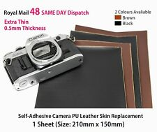 Camera Replacement Self-adhesive PU Leather 0.5mm Thin [BLACK] Restoration DIY