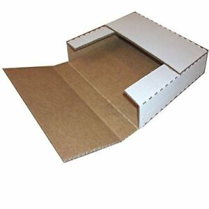 """Vinyl Record Mailers White Holds 1- 6 - 45 rpm 12"""" Record LP Cardboard 100 2000"""