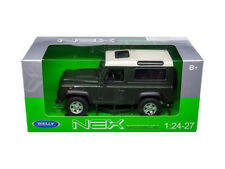 Land Rover Defender SUV Truck Die-cast 1:24 by Welly 7 inches Green White