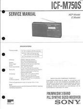 Sony Original Service Manual für ICF-M 750S