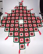 Crochet Granny Square Tree Skirt Holiday Christmas Xmas Handmade