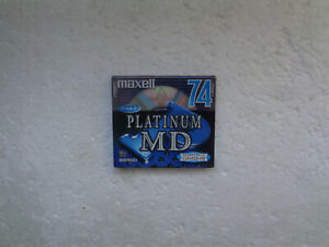 Very Rare Japanese Minidisc MAXELL Platinum MD 74 - For Collector !
