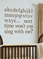 Wallpops WPA98846 Espresso Brown Alphabet Nursery Peel and Stick Wall Decals NEW