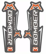 Marzocchi Bomber Fork / Suspension Graphic Decal Kit Sticker Adhesive Set Gray