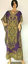 Summer Long Kaftan Dress Hippy Boho Maxi One Size Women Printed Caftan Tunic UK