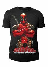 Marvel Comics - Deadpool Herren T-Shirt - Deadpool Schwarz Grösse (S-XL)