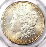 1904-S Morgan Silver Dollar $1 - PCGS Uncirculated Detail - Very Rare in UNC/MS!