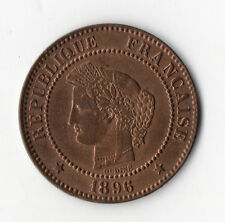 BELLE QUALITE MONNAIE DE 2 CENTIMES CERES EN BRONZE DE 1896 A @ PARIS @ SUPERBE