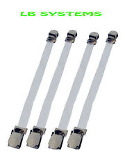4PC SHEET GRIPPER FASTENERS STRAPS ELASTICATED WITH METAL CLIPS NEW