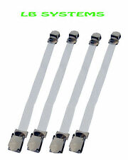 4PC IRONING BOARD COVER FASTENERS STRAPS ELASTICATED WITH METAL CLIPS NEW