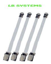 4pc Sheet Gripper elementi di fissaggio Cinturini Elasticizzati con clip in metallo NUOVO