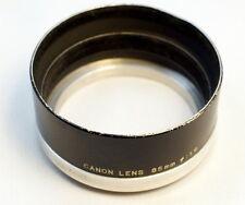 Canon Series 7 (VII) metal lens hood for 85mm f1.9  M39 rangefinder Black model
