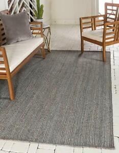 Grey Rug 100% Natural Jute Braided style Handmade Runner Rug  Living area Carpet
