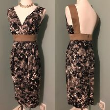 $870 MAX MARA cotton floral/watercolor print dress,open back US size 6