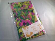 Vintage Multicolor Smoke Ring Scarf Pure Silk NEW in package