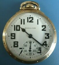 Antique Hamilton 992B Railroad Grade Pocket Watch - Signed Gold Filled Case