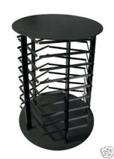 Earring Display Stand Revolving 5 Sided Black Acrylic Rotating Holds 180 Cards