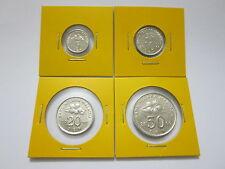 """MALAYSIA  5,10,20 & 50sen coin 2000 Bunga Raya series  """"BU"""""""