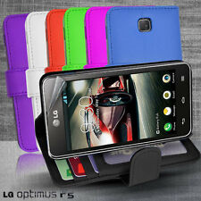 7 Colour Side Wallet Photo ID Leather Case Cover for LG Optimus F5 / P875 + SP