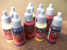 6 X VALLEJO GAME COLOR ACRYLIC PAINTS CHOOSE ANY 6